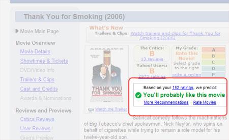 Yahoo! screenshot