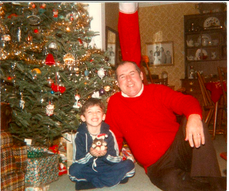 My grandfather and I in 1984