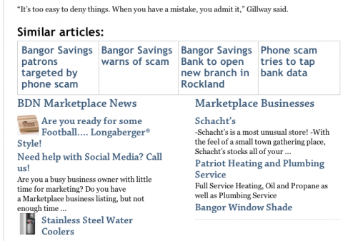 A screenshot of the BDN Marketplace News section