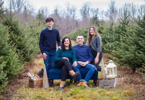 Clarke Family at a local Christmas tree farm.